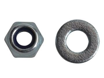 Nyloc Nuts & Washers Zinc Plated M4 ForgePack 50